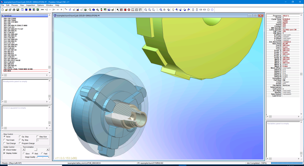 Predator Virtual CNC v11 Turning Improvements