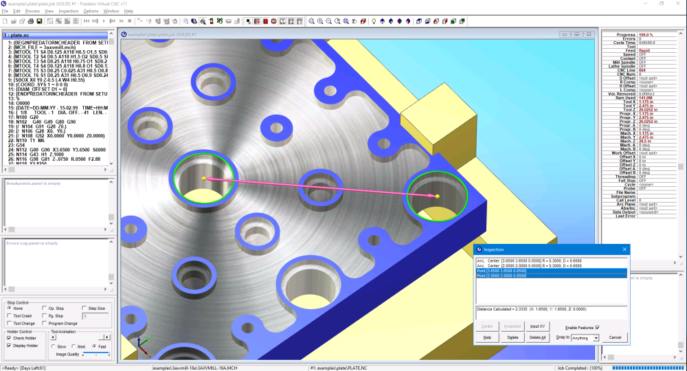 Predator Virtual CNC - Part Inspection