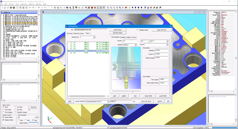 Predator Virtual CNC Tooling